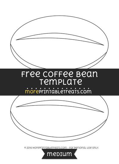 Free Coffee Bean Template - Medium