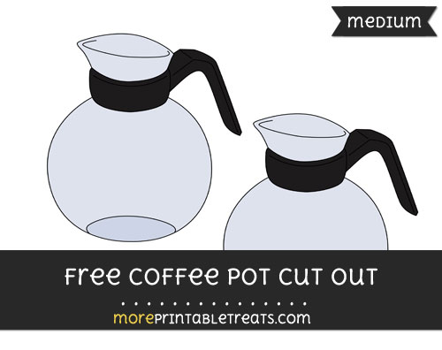 Free Coffee Pot Cut Out - Medium Size Printable
