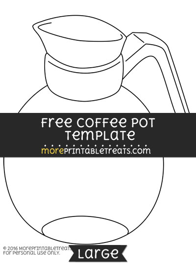 Free Coffee Pot Template - Large