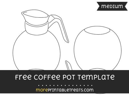 Free Coffee Pot Template - Medium