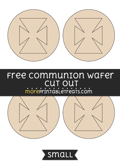 Free Communion Wafer Cut Out - Small Size Printable