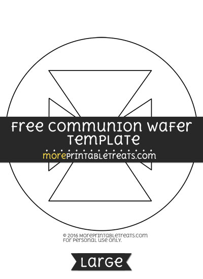 Free Communion Wafer Template - Large