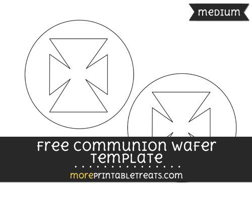 Free Communion Wafer Template - Medium