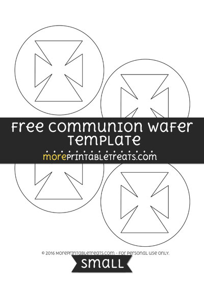 Free Communion Wafer Template - Small