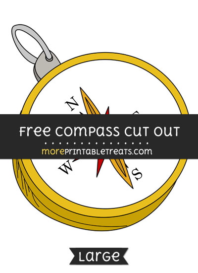 Free Compass Cut Out - Large size printable