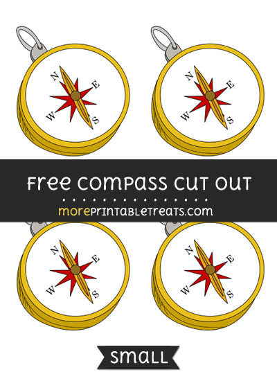 Free Compass Cut Out - Small Size Printable