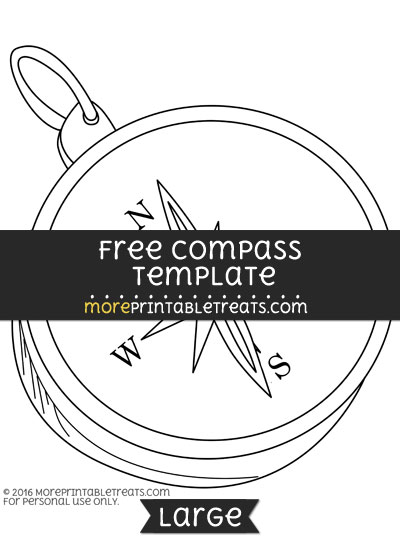 Free Compass Template - Large