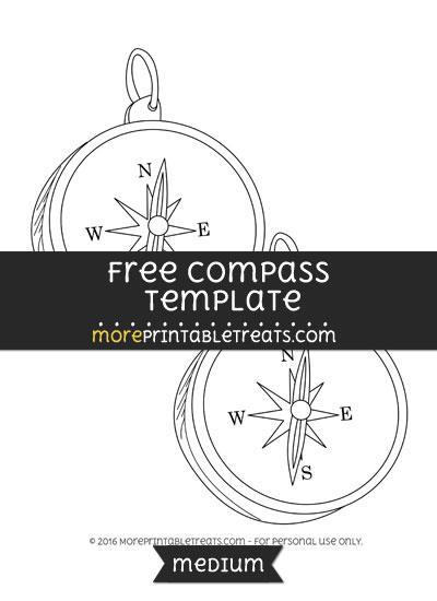 Free Compass Template - Medium