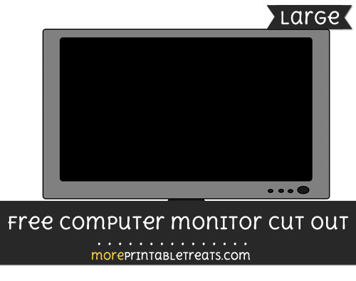 Free Computer Monitor Cut Out - Large size printable