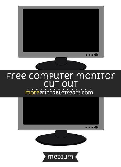 Free Computer Monitor Cut Out - Medium Size Printable
