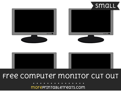 Free Computer Monitor Cut Out - Small Size Printable