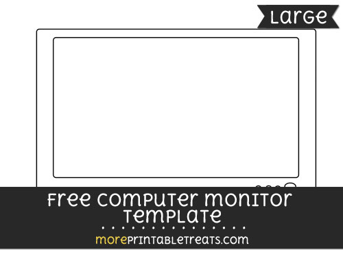 Free Computer Monitor Template - Large