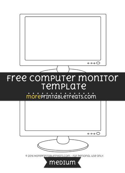Free Computer Monitor Template - Medium