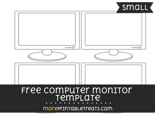 Free Computer Monitor Template - Small