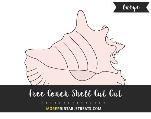 Free Conch Shell Cut Out - Large