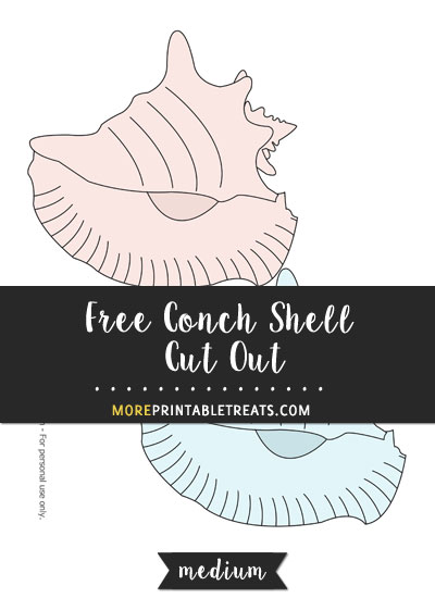 Free Conch Shell Cut Out - Medium