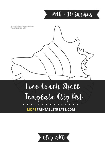 Free Conch Shell Template - Clipart