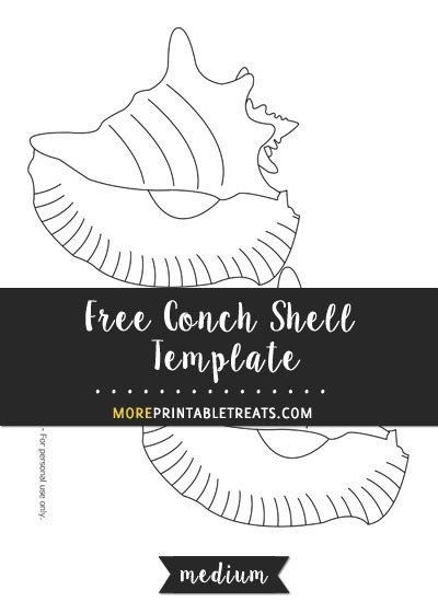 Free Conch Shell Template - Medium Size