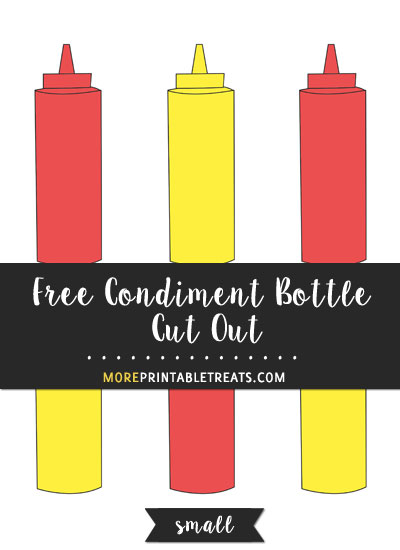 Free Condiment Bottle Cut Out - Small