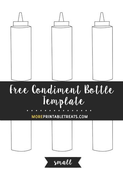 Free Condiment Bottle Template - Small Size