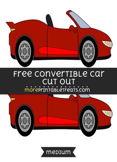 Free Convertible Car Cut Out - Medium Size Printable