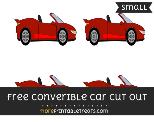 Free Convertible Car Cut Out - Small Size Printable