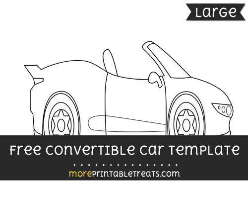Free Convertible Car Template - Large