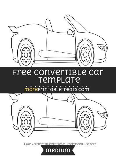Free Convertible Car Template - Medium