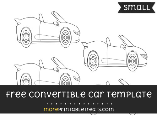 Free Convertible Car Template - Small