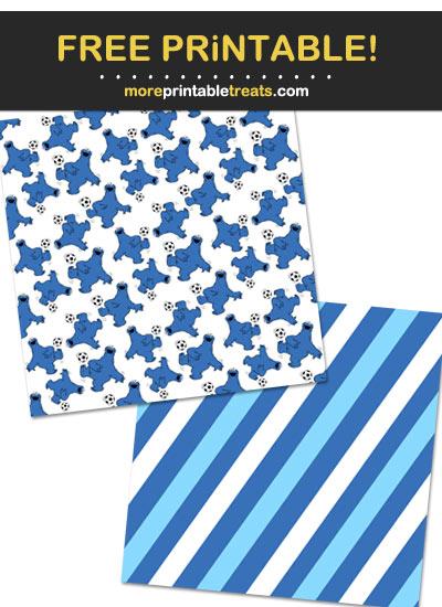 Free Printable Cookie Monster Pattern Paper