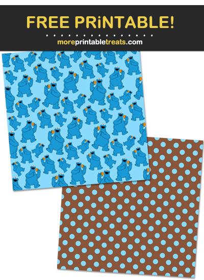Free Printable Cookie Monster Scrapbook Papers