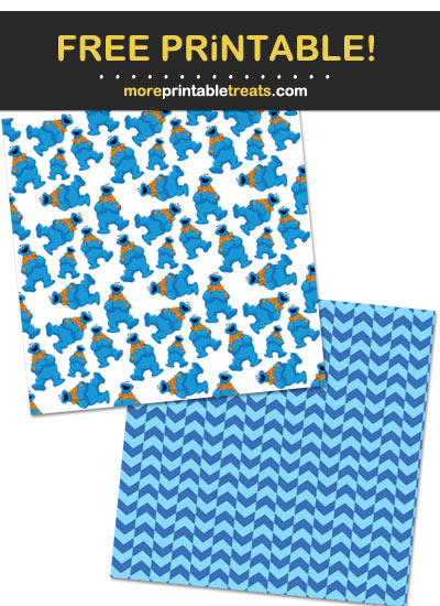 Free Printable Cookie Monster Wrapping Paper