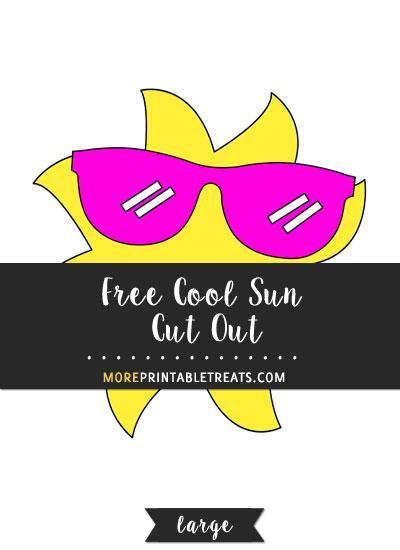 Free Cool Sun Cut Out - Large