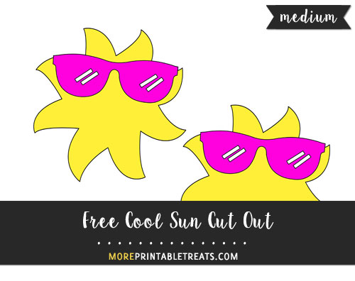 Free Cool Sun Cut Out - Medium