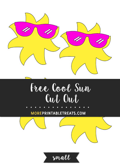 Free Cool Sun Cut Out - Small