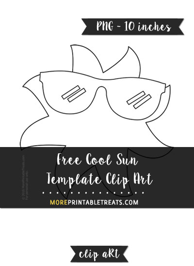 Free Cool Sun Template - Clipart