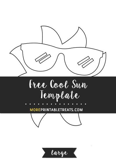 Free Cool Sun Template - Large