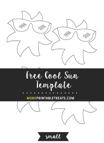 Free Cool Sun Template - Small Size