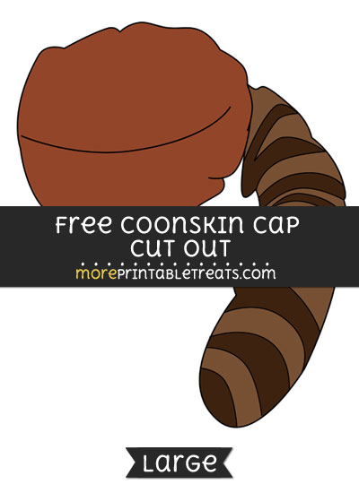 Free Coonskin Cap Cut Out - Large size printable