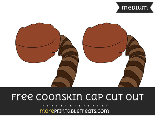 Free Coonskin Cap Cut Out - Medium Size Printable