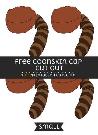 Free Coonskin Cap Cut Out - Small Size Printable