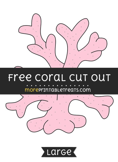 Free Coral Cut Out - Large size printable