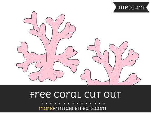 Free Coral Cut Out - Medium Size Printable