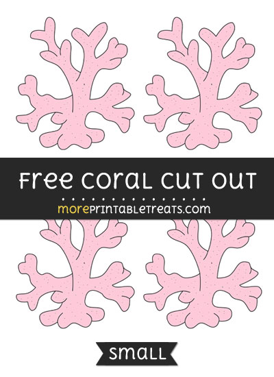 Free Coral Cut Out - Small Size Printable