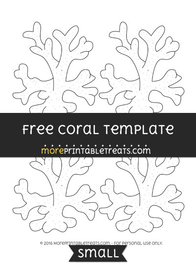Free Coral Template - Small