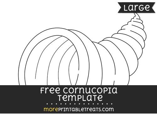 Free Cornucopia Template - Large