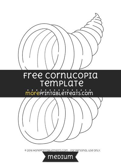 Free Cornucopia Template - Medium
