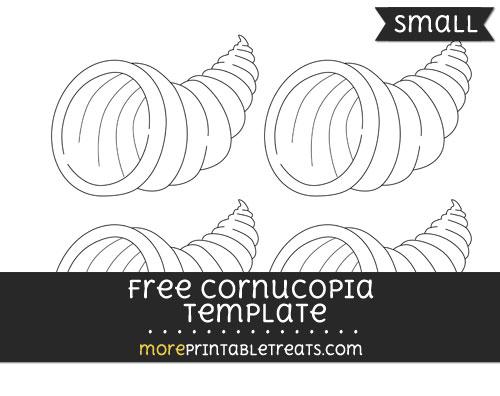 Free Cornucopia Template - Small