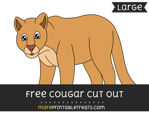 Free Cougar Cut Out - Large size printable