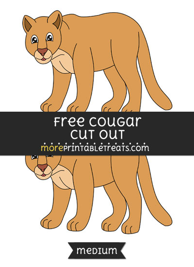 Free Cougar Cut Out - Medium Size Printable